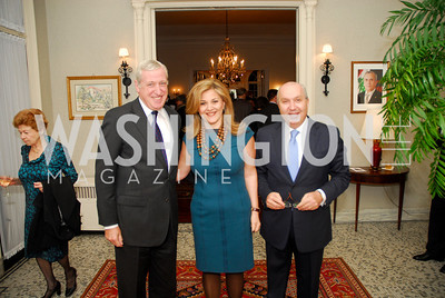 Amb.Pierre Vimont, Nicole Chedid, Amb.Antoine Chedid. Thomas/Crawford Book Party. Photograph by Kyle Samperton,October 19,2009.
