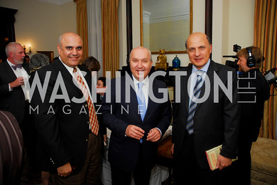 Dr.Walid El-Khoury, Amb.Antoine Chedid, Tony Hadad. Thomas/Crawford Book Party. Photograph by Kyle Samperton,October 19,2009