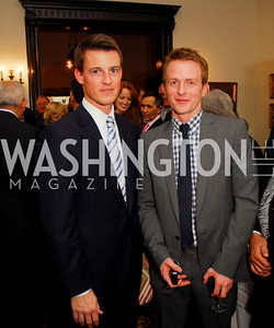Matthew Godlewski, Jake Whitman. Thomas/Crawford Book Party. Photograph by Kyle Samperton,October 19,2009