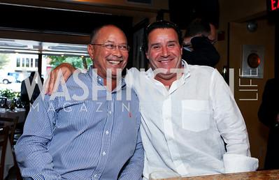 George Murray, Italo Rodriguez. Tom Ridge book party at Cafe Milano. September 22, 2009. photos by Tony Powell