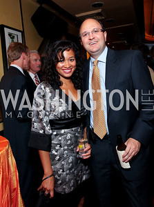Christal Hoo, Brian Cairns. Tom Ridge book party at Cafe Milano. September 22, 2009. photos by Tony Powell