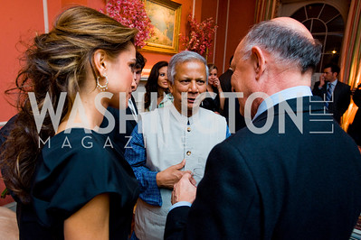 Queen Rania, Mohamed Yunus, James Woolsey, photographer Joseph Allen