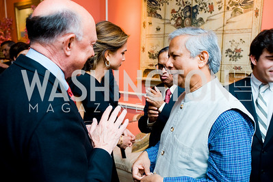 James Woolsey, Queen Rania, Mohamed Yunus, photographer Joseph Allen