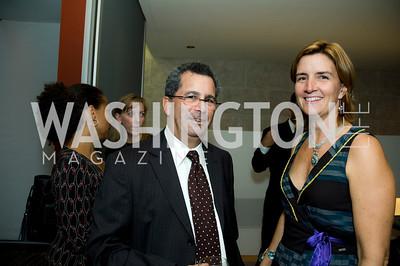 David Bradt, Ann Luskey. VPP Reception. Ann Brown's House. September 23, 2009. Photos by Betsy Spruill Clarke.