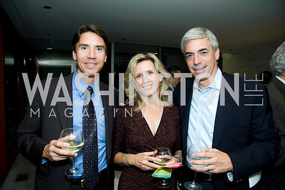 David Murray, Tonja Murray, Martin Weinstein. VPP Reception. Ann Brown's House. September 23, 2009. Photos by Betsy Spruill Clarke.