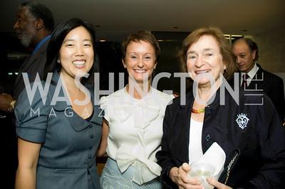 Michelle Rhee, Kristin Ehrgood, Irene Wurtzell. VPP Reception. Ann Brown's House. September 23, 2009. Photos by Betsy Spruill Clarke.