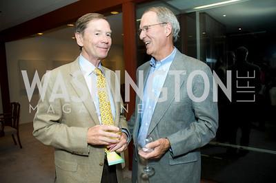 Richard Thompson, Terry Eakin. VPP Reception. Ann Brown's House. September 23, 2009. Photos by Betsy Spruill Clarke.