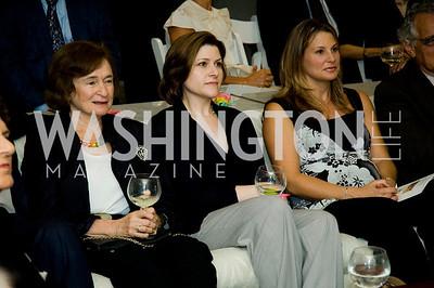 Irene Wurtzell, Paula Hisaoka, Michelle Jebron. VPP Reception. Ann Brown's House. September 23, 2009. Photos by Betsy Spruill Clarke.