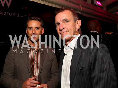 Joe Ireland and Walter Nicholls. W Hotel Grand Opening. October 8, 2009. photos by Tony Powell