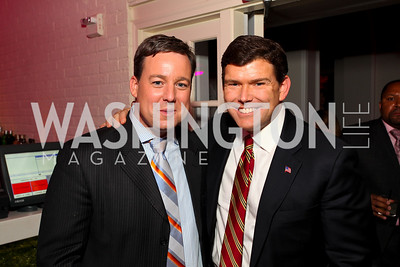 Ed Henry and Brett Baier. W Hotel Grand Opening. October 8, 2009. photos by Tony Powell