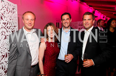 James Eby, Amy Argetsinger, Ian Alberg, Todd Flournoy. W Hotel Grand Opening. October 8, 2009. photos by Tony Powell