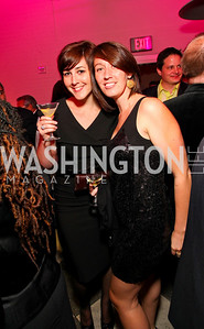 Amy Buff, Carly Walsh. W Hotel Grand Opening. October 8, 2009. photos by Tony Powell