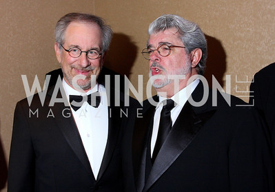 Steven Speilberg, George Lucas, photos by Tony Powell