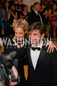 Alexandra Wentworth, George Stephanopoulos. White House Correspondents Dinner Red Carpet 2009. Photos by Jonah Koch.