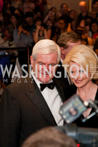 Newt and Callista Gingrich. White House Correspondents Dinner Red Carpet 2009. Photos by Jonah Koch.