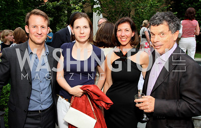 Adam Waldman, Ludmila Cafritz, Cynthia McKee, Conrad Cafritz, (Photo by Tony Powell)