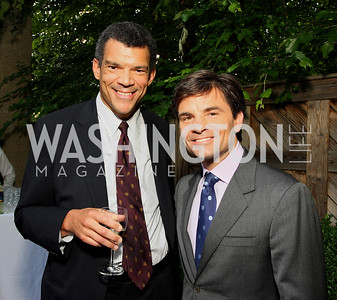 Mark Whitaker, George Stephanopoulos (Photo by Tony Powell)