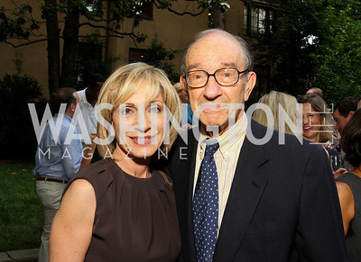Andrea Mitchell, Alan Greenspan (Photo by Tony Powell)