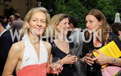 Zanny Minton-Beddoes, Helena de Bertodano, Amelia Wooldridge (Photo by Tony Powell)