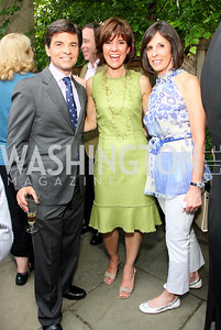 George Stephanopoulos, Capricia Marshall, Beth Dozoretz (Photo by Tony Powell)