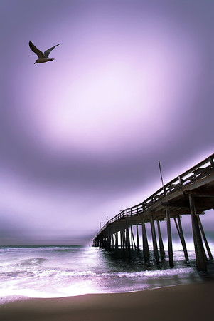 ocean pier at outer banks beach