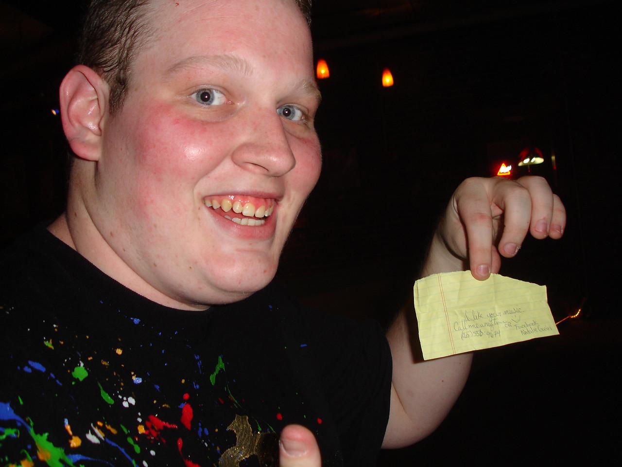 Success! Zac scored a phone number!