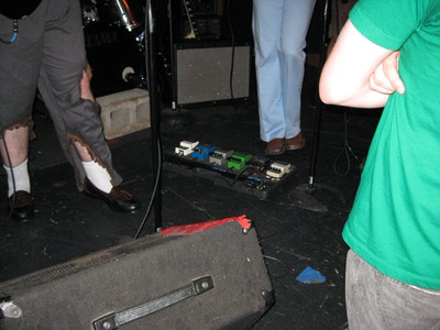 Wil's pedalboard has more pedals than mine :(