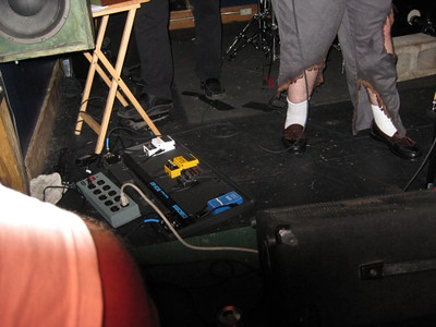 Look at Dan's fancy footwear (left over from the geriatric party)
