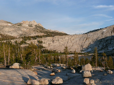 Evening walk on Medlicott Dome above Cathedral Lake.