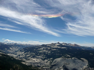 Rainbow over the Southern Yosemite from Clouds Rest.