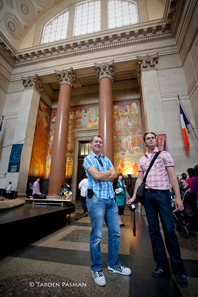 posing in AMNH
