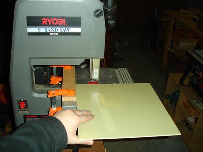 """Cutting down the 12x12 sheet of 1/8"""" G10 garolite"""