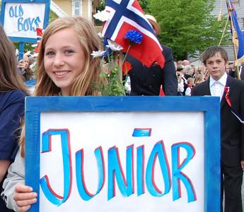 Hanne reklamerer for junior roing