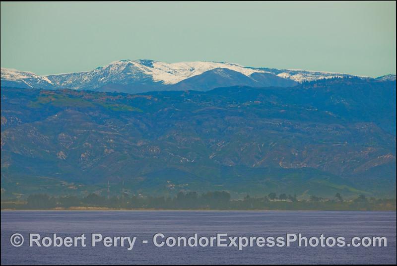 Winter in the Santa Barbara Channel.  A view of the Goleta coast.