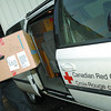 Citizen photo by Brent Braaten Ryan Schroeder Service Manager with Telus loads a computer into a Canadian Red Cross van Tuesday morning. Twelve Prince george groups expressed interest when Telus put the word out in January, including St. John's ambulance, the Prince george Council of seniors, Intersect Youth and family Services and the Canadian red Cross. The 12 charities are part of a group of 39 organizations across B.C.'s northern region to receive new computer equipment from telus.