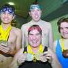 Special olympic swimmers left to right David Dunn, Neil Reid and Tegan Reines, front Barbie Conway. Citizen photo by Brent Braaten