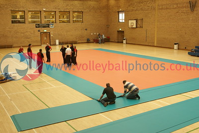 Scottish Volleyball Association Finals Weekend - Hall Preparations