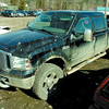 A stolen 2006 Ford F-350 Lariat HD sits recovered in the yard of Northern Capital Towing. Citizen photo by David Mah