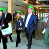 Premier Gordon Campbell and his entourage, toured the Gateway Retirement Community on his northern campaign. Western Industrial Contractors Gateway project manager Rod Cryderman, right, led the tour. Citizen photo by David Mah