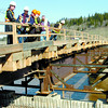 City of Prince George representatives, IDL Projects reps, and media viewed the Cameron Street Bridge Wednesday to receive an update on the bridge. Citizen photo by David Mah
