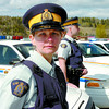 Cst. Kelly Craig, and twelve other members totalling thirteen RCMP Enforcement units will be on highways starting this weekend to make northern highways safer. Increased police prescence provides increased viisability and the of apprehending those who drive erratically. Citizen photo by David Mah