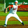 Prince George Axemen pitcher Tom Nielsen pitches against the US National Team. Citizen photo by David Mah