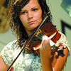 Sydney Wilson competes in the Old Time Fiddlers contest at Blacburn Hall Saturday. It was a B.C. Championship Contest put on by the BC Old Time Fiddlers Association Branch 1(Prince George). Citizen photo by Brent Braaten