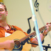 Doug Borden plays guitar as he backs up fiddlers in th 40th anniversary of the BC Oldtimers Fiddle association contest at the blackburn Community Centre Saturday. Citizen photo by Brent Braaten