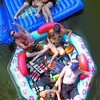 Floating down the Nechako River is still one of the most popular events in town, as seen with this group travelling under the John Hart Bridge. Citizen photo by David Mah
