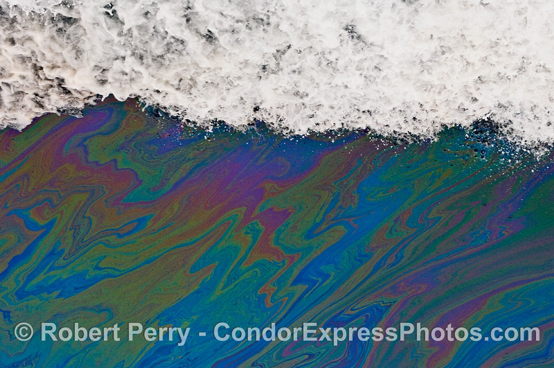 Abstract with foam.