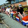 The mini train was busy giving rides during the Family fun Day at the Railway and forestry Museum. Citizen photo by Brent Braaten