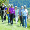 Members of the Y Walkers made their way around Connaught Hill and enjoyed the sunshine Thursday afternoon. Citizen photo by David Mah