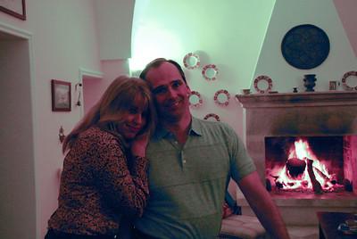 Corinne and Tim in the palazzo di Spongano