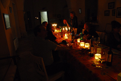 Candlelight dinner with friends into the wee hours